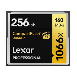 Lexar Professional 256 GB 1066x Compact Flash VPG65 160MB/s