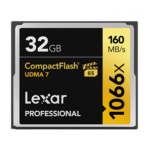 Lexar Professional 32 GB 1066x Compact Flash VPG65 160MB/s