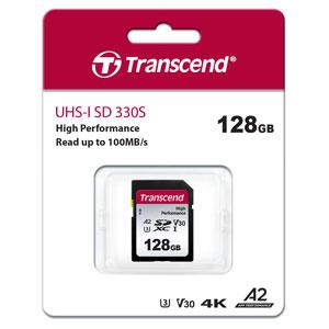 Transcend 128 GB SD kaart High Performance 330S verpakking