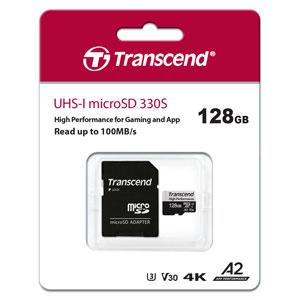 Transcend 128 GB micro SD kaart High Performance 330S verpakking