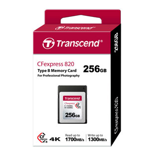 Transcend 256 GB CFexpress Card 820 1700 MB/s verpakking