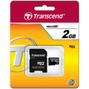 Transcend 2GB Micro SD met Adapter