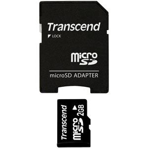 Transcend 2GB Micro SD met Adapter