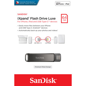 SanDisk 64GB iXpand-Flashdrive Luxe