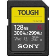 Sony 128GB UHS-II G TOUGH Serie SD Kaart 300MB/s voorkant