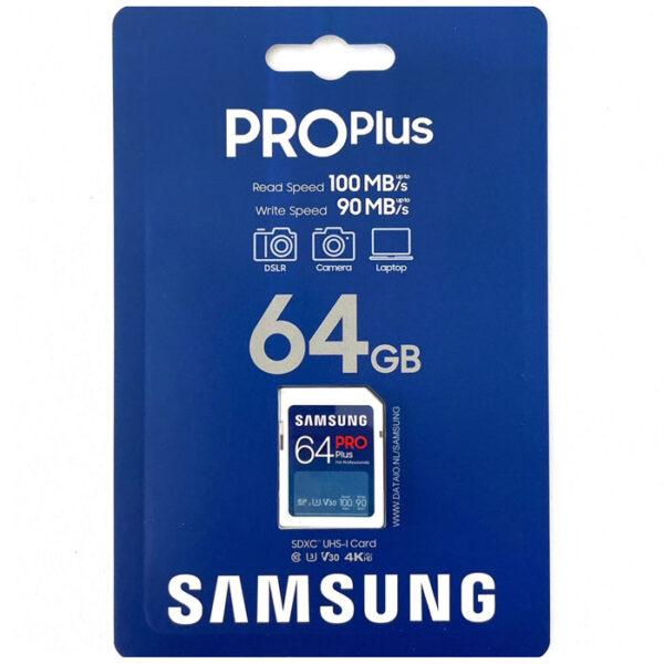 Samsung PRO Plus SDXC 64GB V30 U3 UHS-I